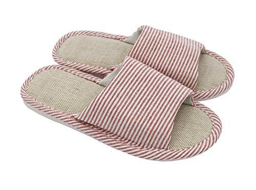 AioTio Mujeres y Hombres Zapatillas de Punta de Lino de algodón con...