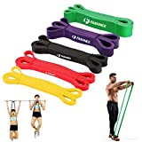 FASHNEX Pull Up Bands, Resistance Bands, Pull Up Assist Exercise Band for Body Stretching, Powerlifting, Workout Fitness Training Bands (Light - 1 Piece (Red))