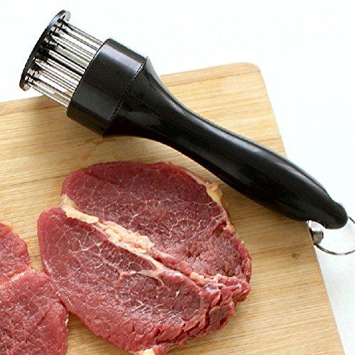 Fleischklopfer Nadel, mit Edelstahl-Küchenwerkzeug, gleichmäßigeres Kochen, reduziertes Schrumpfen, 19,1 x 4,6 cm, 1 Stück