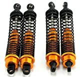 LNL 130mm Rc Damper Shock for Hilux Axial Tamiya Toyota Rc4wd Gold(4Pack)