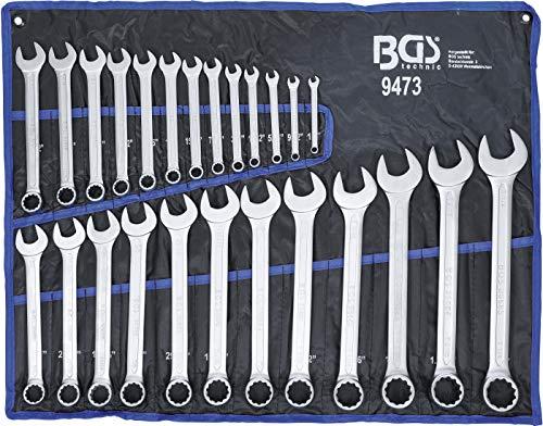 Bgs 9473chiave combinata Set di chiavi, pollici dimensioni, 25pezzi
