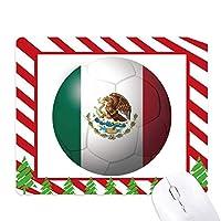 メキシコ国旗サッカーワールドカップ ゴムクリスマスキャンディマウスパッド