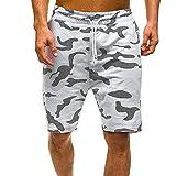 Pantalones Cortos De Verano para Hombre Casual Comoufflage Print Shorts De Gran Tamaño Fitness Torrendo Pantalones Cortos Cool (Color : A, Size : L.)