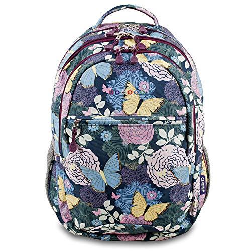 J World New York Cornelia Laptop Backpack, Secret Garden, One Size