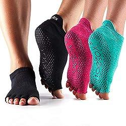 Toesox Women's Bellarina Half Toe Grip Non-Slip Socks