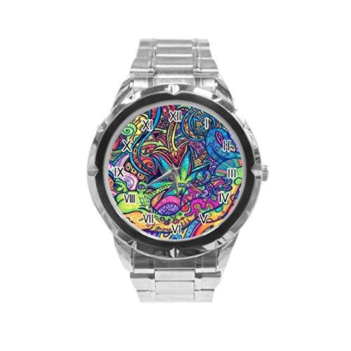 Tie Dye Hippie - Reloj de Pulsera para Hombre (Acero Inoxidable)