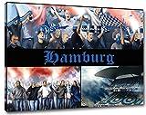 Ultras Hamburg Format: 60x40, Bild auf Leinwand XL, fertig
