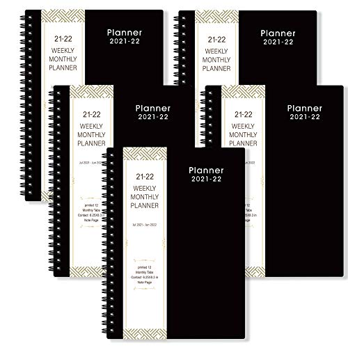 2021-2022 Planner 5 Pack - Weekly & Monthly Planner with Flexible Cover from July. 2021 - June. 2022, 6.25 in × 8.3 in, Improving Your Time Management Skill