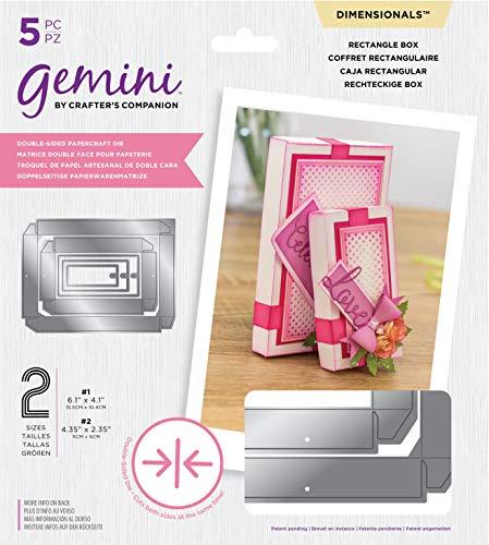 Crafter's Companion Gemini-dubbelzijdig die-dimensionals-rechthoekige doos, meerkleurig, één maat