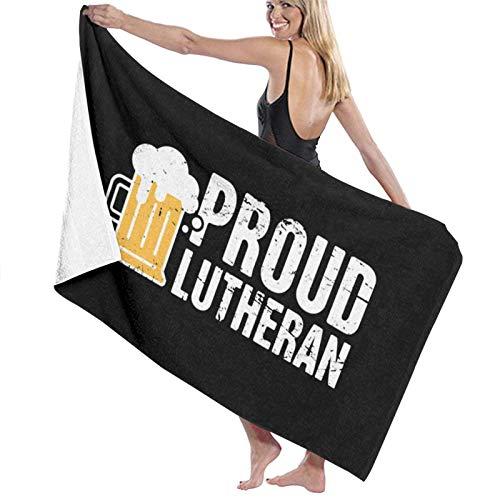 Toalla de baño, Orgulloso Bebedor de Cerveza luterano Toallas de Playa para Adultos, Toallas de Playa para Mujeres para Viajes al Gimnasio al Aire Libre, 80x130cm