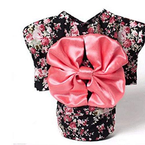 Haustier-Kleidung Hundekleid Kleidung Hemd Prinzessin Kleid Schönes Elegantes Blumenmuster mit Bogen japanischer Kimono-Art