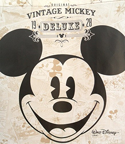 Disney Vintage Mickey Mouse Tote Bag Reusable Grocery Bags Large Size Non Woven Bag (Set of 2)