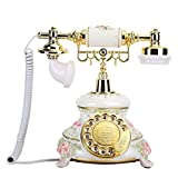 eboxer-1 Vintage Telephone Retro Telephone, Rotating Dial Antique Telephones Old Fashioned Classic Country Style Handset Landline Home Fixed Desk Phone