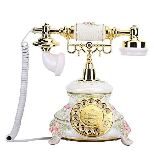 Lazmin Teléfono Antiguo de marcación giratoria, teléfono Retro de Estilo Vintage, teléfono Fijo, teléfono Fijo de Escritorio,...