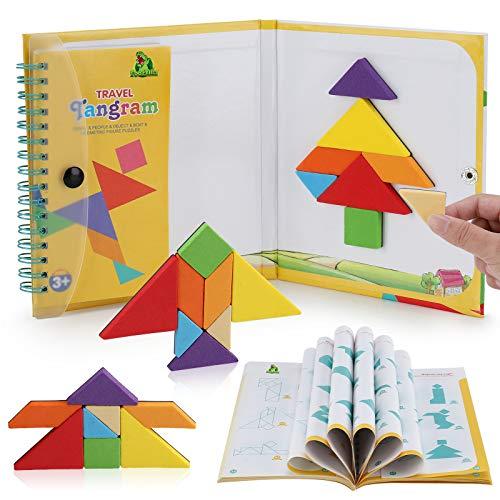 Tangram Puzzle Kids Games – Magnetic Blocks Road Trip Essentials Kids – Premium EVA Material – Fun and Colorful Design - Educational Jigsaw Puzzle Stem Toy