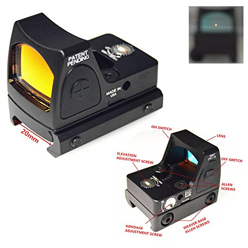 FIRECLUB Airsoft RMR Style Mini Micro Red Dot Sight w/Side ON/Off Switch (Black)