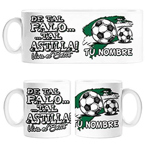 Diver Bebé Taza de Tal Palo Tal Astilla de Betis para Aficionado al fútbol Personalizable con Nombre - Cerámica