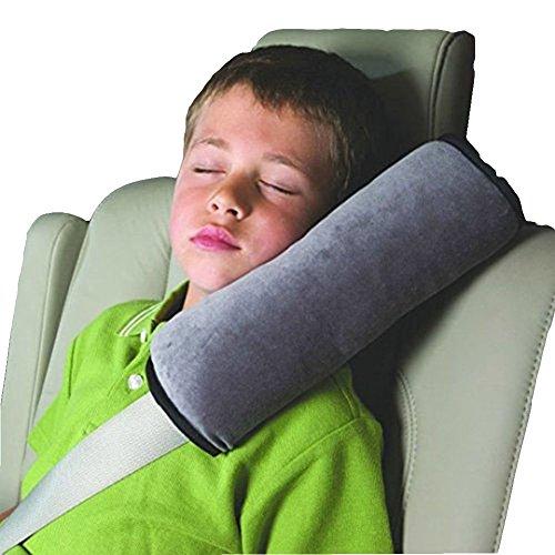 Mackur 1x Auto Safety Kinder Belt Shoulder Pad Car Pillow Auto Sicherheitsgurt Schulter schützen (Grau)