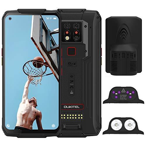 OUKITEL WP7 (2020) Outdoor Smartphone, 8GB 128GB Helio P90 Dual 4G IP68 wasserdichtes Handy, 6,53 Zoll Gorilla-Glas, 8000 mAh Akku, 48 MP dreifache Kamera, NFC (Schwarz Plus)