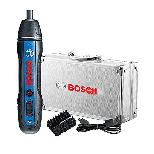 [ Bosch Go 2 ] Bosch Power Screwdriver 2nd Generation 6 Torque Modes Press/Push to Go Wireless Cordless Electric Handheld Screwdriver - Aluminum Storage Case