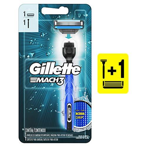Aparelho de Barbear Gillette Mach3 Acqua-Grip, Gillette