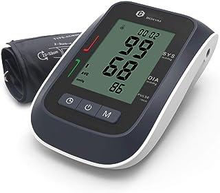 Zcthk Esfigmomanómetro y Detector de frecuencia cardíaca por Tiempo Limitado, Monitor de presión Arterial inalámbrico para Brazo Superior, hogar, inalámbrico, portátil, Pantalla Digital, LCD