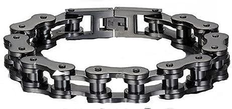 VPKJewelry Men Women Stainless Steel Motorcycle Bike Biker Link Chain Eternity Bracelet Wide 12 mm L 9'' Best Gifts