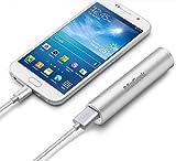 MaGeek® Atom1 3350mAh Rossetto-Sized Banca Portatile di Potere Caricatore Esterno della Batteria con UniCharge Tecnologia per iPhone, Samsung e Altro (Argento)