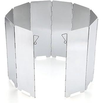 Piatti Vento Alluminio Pieghevole Parabrezza Fornello da Campeggio Paravento Lega Alluminio per Fornello Campeggio Protezione per Anello Parabrezza Antivento a Risparmio Energetico con Fornello a Gas