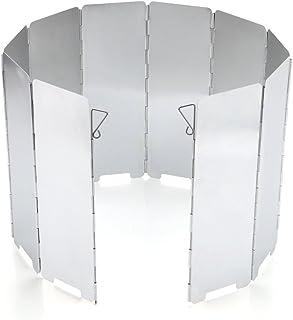 JAMSWALL Alliage d'aluminium Pliable de Pare-Brise en de Pare-Brise DE 10 Morceaux extérieurs pour Le BBQ