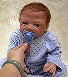 Bambola Reborn Maschio 20 Pollici 50 cm Silicone Morbido Vinile Vita Reale Come Realistico Giocattoli per Ragazzi e Ragazze Ciuccio Magnete Regali di Natale