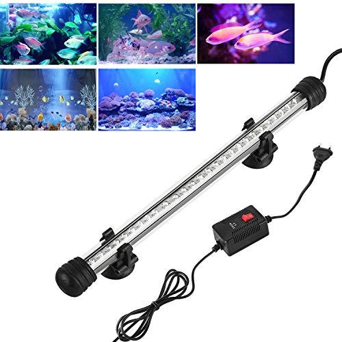 SPEED Aquarium Mondlicht LED Lampe Wasserdicht Glasgehäuse Leuchtbalken Leuchte Aquarium Beleuchtung 50CM Blau
