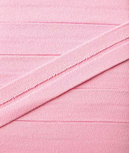 3 m Jersey Einfassband Trikot elastisch 20 mm vorgefalzt rosa 2,66 €/m