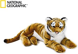 National Geographic Plush Tiger Stuffed Animal Extra Large Gold