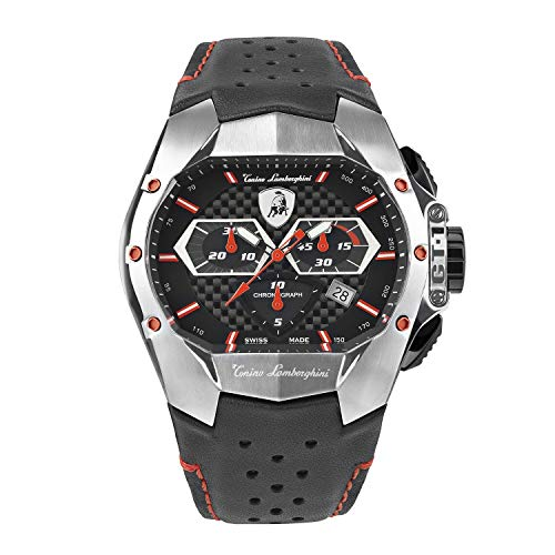 Tonino Lamborghini GT1 Chronograph Watch Steel Red