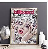 Rosalía Billboard álbum de música lienzo póster Hip Hop rapero estrella pintura de pared decoración (sin marco)-60x80cm sin marco