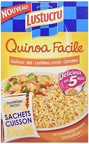 Lustucru Quinoa Facile Quinoa/Blé/Lentilles Corail/Carottes Sachet Cuisson 300 g