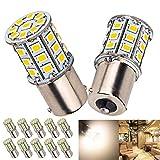 10 x Super Bright BA15S 1156 1141 1003 RV Interior White Light LED Bulbs Camper Trailer Turn Signal Backup Reverse 4.2W,4000K Neutral White