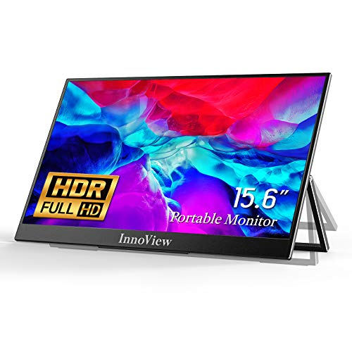 """Portable Monitor, Ultra Slim Portable Monitor for Laptop HDMI USB C, InnoView 15.6"""" FHD 1080P HDR IPS Screen 178°Full View, for MacBook/iPhone/Android Xbox Switch PS5 Raspberry Pi"""