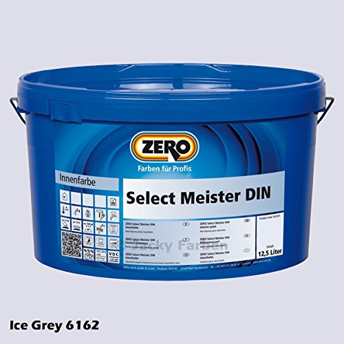 ZERO Select Meister DIN 12,5 L Profi Wandfarbe Innenfarbe, Ice Grey