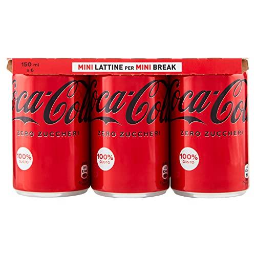 Coca-Cola Zero Mini Lattina - Confezione da 6 x 150 ml