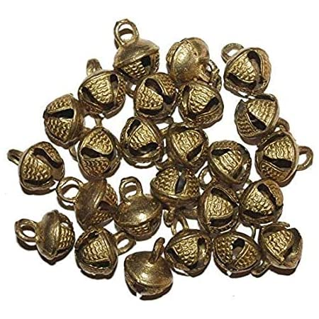 Decorations And Other 5pc Brass Brass Jingle Bells With Pleasant Sound 28x33mm Metal