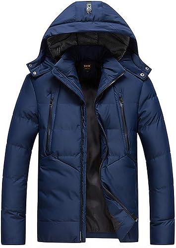 PPZQWQ Hommes Blousons Coton Manteaux épais, Hiver Etanche Mode chaude et coupe-vent Décontracté Capuche, Section moyenne et longue (XL-4XL)