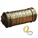LXDDP Da Vinci CoMini Cryptex avec Deux Anneaux pour Noël Saint Valentin Jeux Intéressants Anniversaire Idées Cool Cadeaux pour Hommes Petite Amie Casse-tête Casse-tête Casse-tête, Le Black Friday
