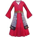 *ZHANGY Pel·lícules Halloween Nen *Hua *Mulan Disfressa Nadal Nenes *Mulan Vestit Nens Roba Tradicional Xinesa *Mulan,Rojo,*130cm