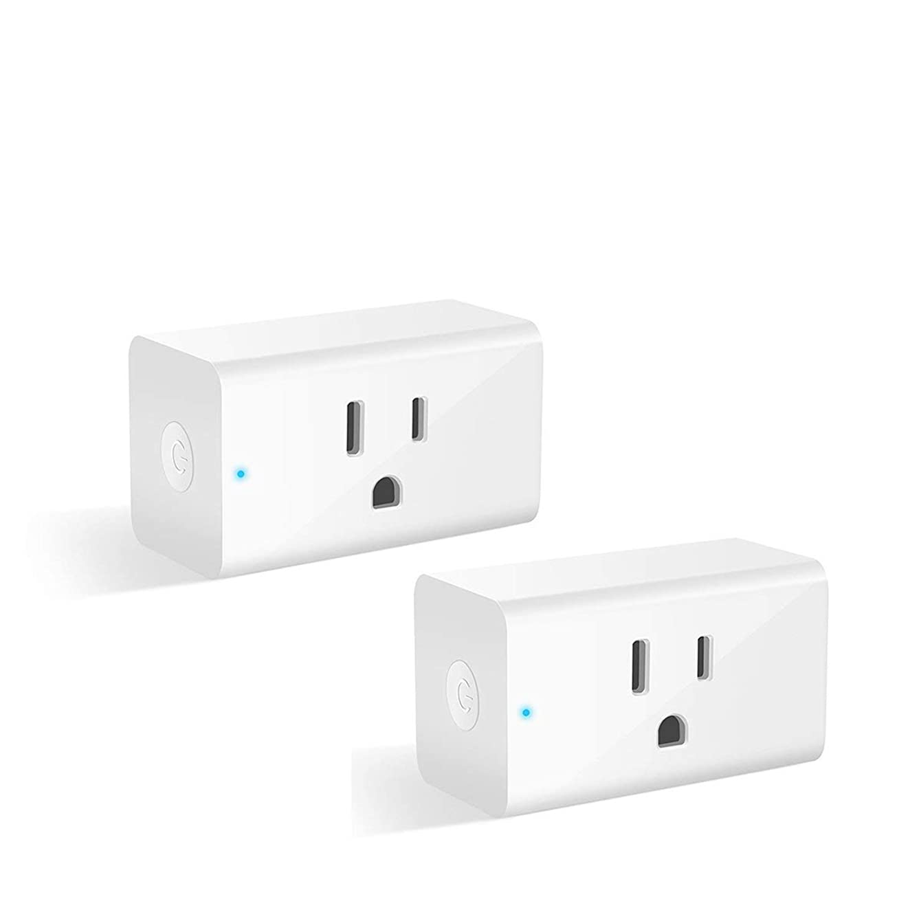 Smart Plug, Alexa Wifi Outlet Smart Plugs for Smart Home App Remote Control Outlets (AC 110-125V/16A/1800W), No Hub Required Electrical Socket Compatible with Alexa and Google Home Wifi Timer- 2 Pack