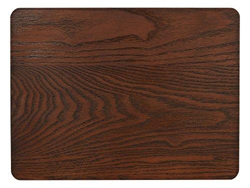 CREATIVE TOPS Bordstabletter av askfaner, 30 x 21 cm, brun, 4 stycken, trä, bordsunderlägg, 4