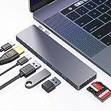 Ofima Hub USB C 8 in 1, Adaptateur de Type C avec Thunderbolt 3, HDMI 4K, USB 3.0, Type C, Lecteur de Carte SD/Micro SD pour...