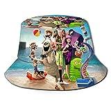 DCVFB Elf Hostel Sombrero de Pescador Unisex Impreso Sombrero de Cubo Plegable de Doble Cara, fácil de Transportar sin deformación Disfrute del Aire Libre con Comodidad y Estilo Negro