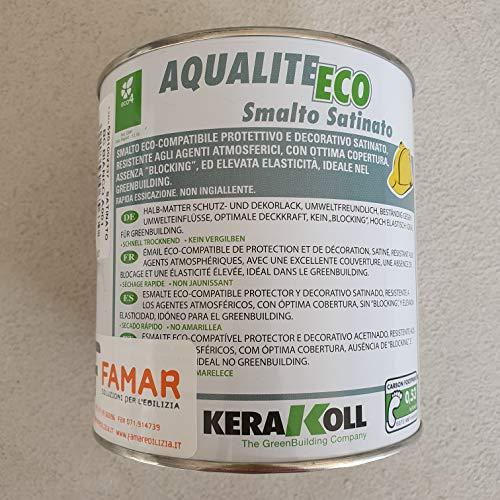 Kerakoll Aqualite Eco Nagellack satiniert - A 001 Weiß 14 l